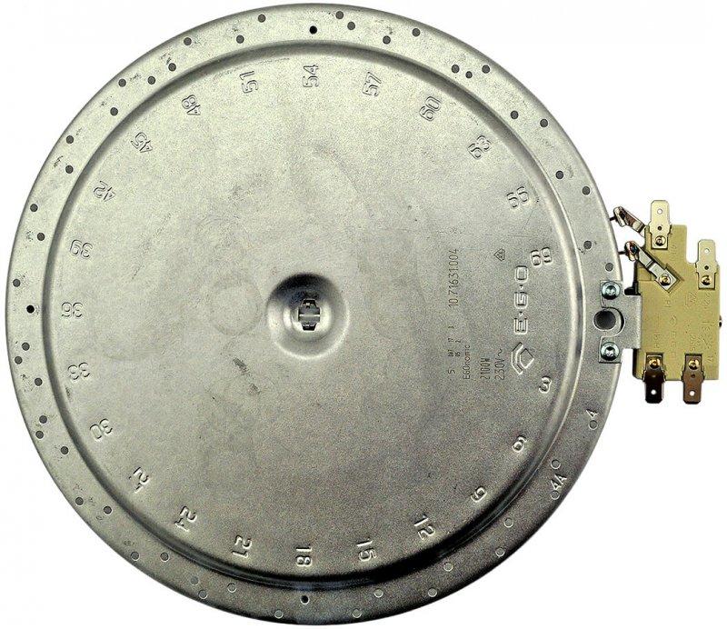 Egonomic Strahlungsheizkorper 2 100w 230v O210mm 1 Zone At