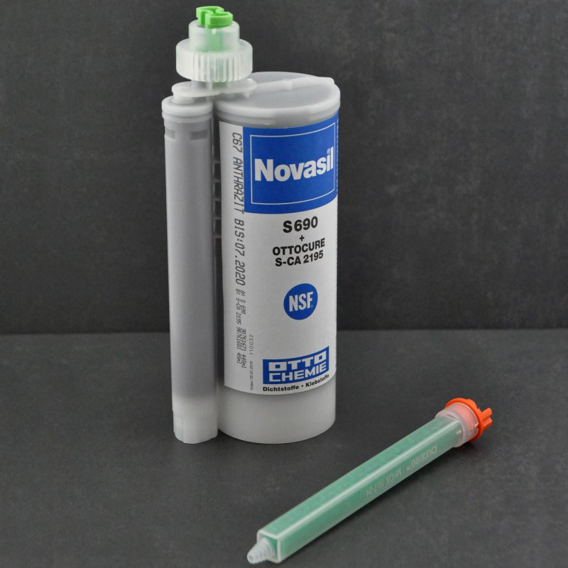 Novasil S 690+S-CA 2195 2K anthrazit C67 490ml Kartuschen