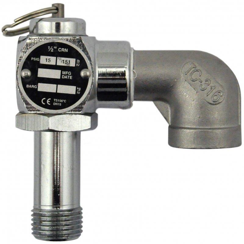 Zusatzventil drücken 1/2 CRN 15 PSIG,151 lb-hr