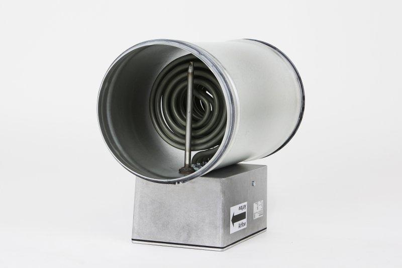 Kanallufterhitzer rund Type KLV Ø100mm 1.500W / 3x400V