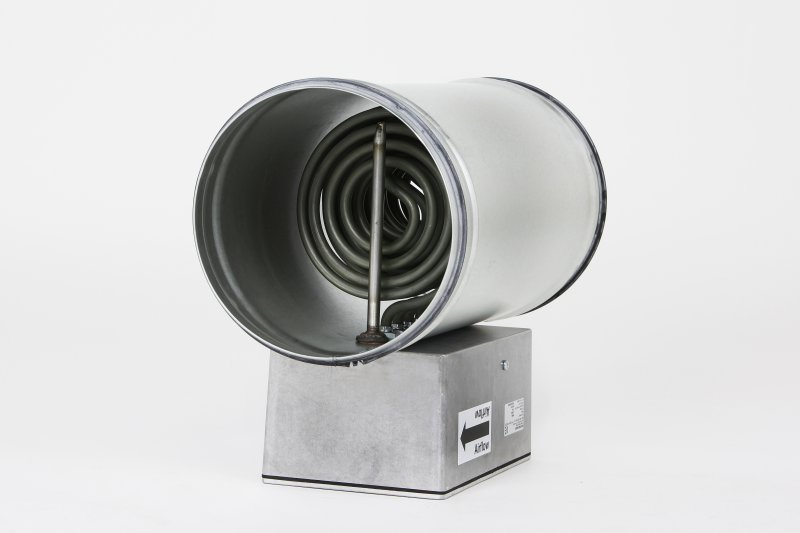 Kanallufterhitzer rund Type KLV Ø250mm 1.500W / 3x400V