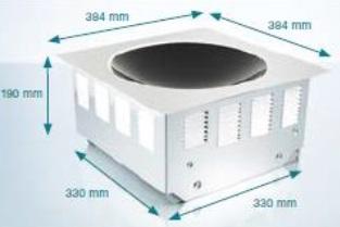 Snap In 1x 5,0kW/400V Wok-Spule W300mm