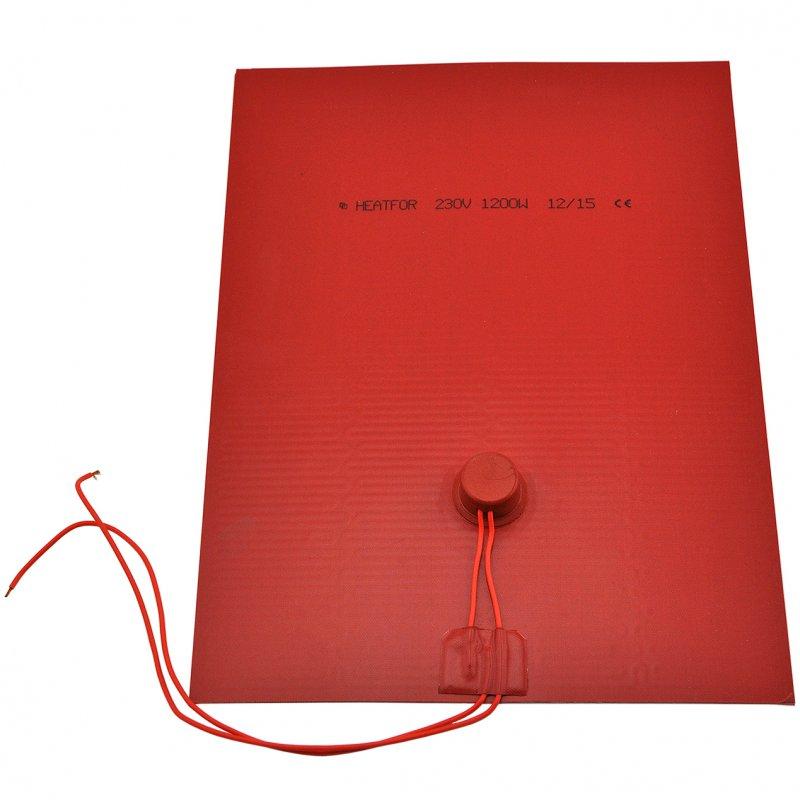Polyesterheizkörper 360x270mm 1200W/230V dr=2x300mm silikon T150°C
